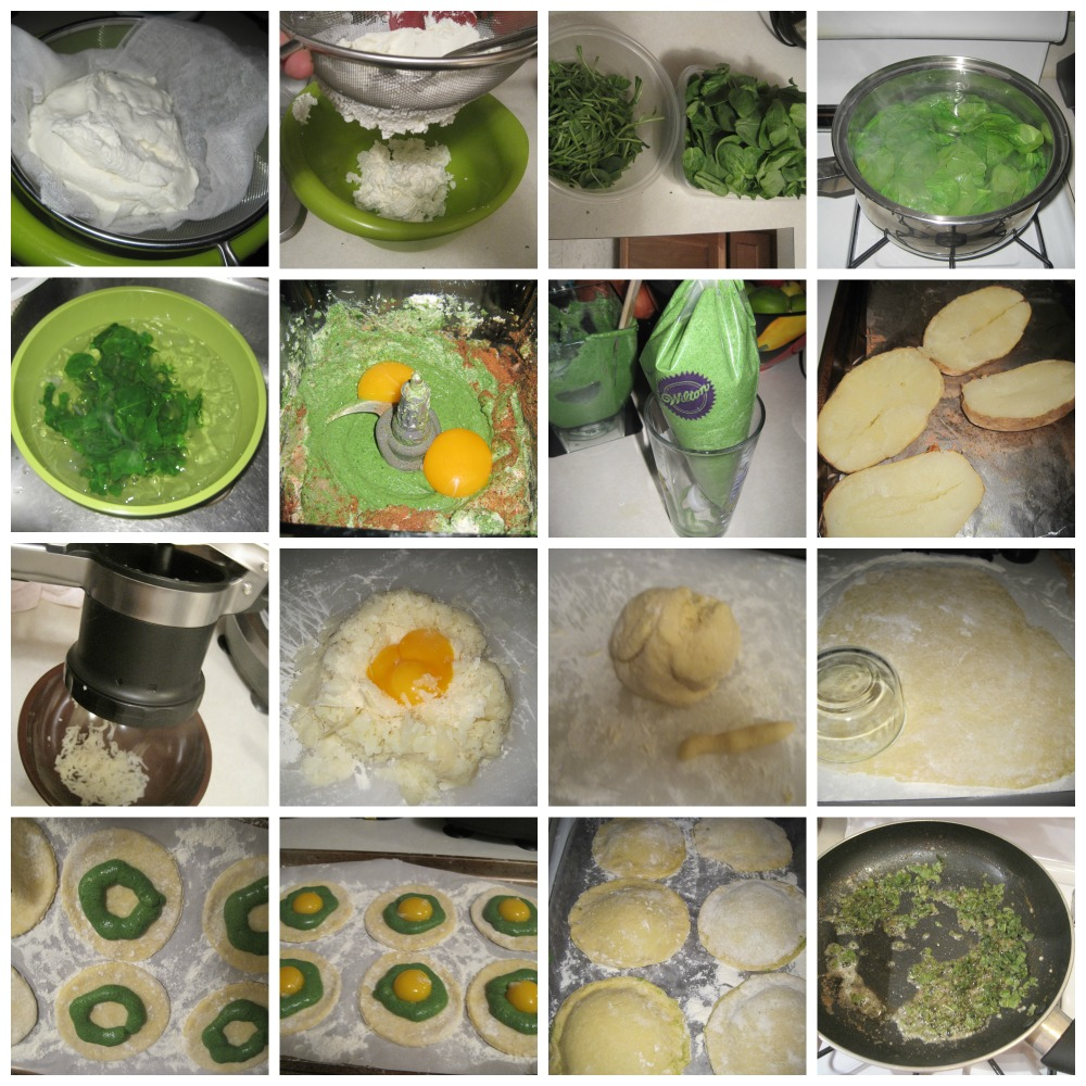 Potato Gnocchi Ravioli PROCESS Collage