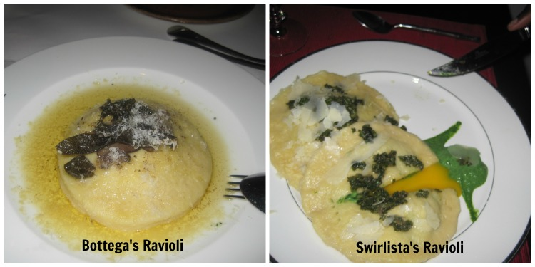 Ravioli side by side comparison COLLAGE WITH TEXT