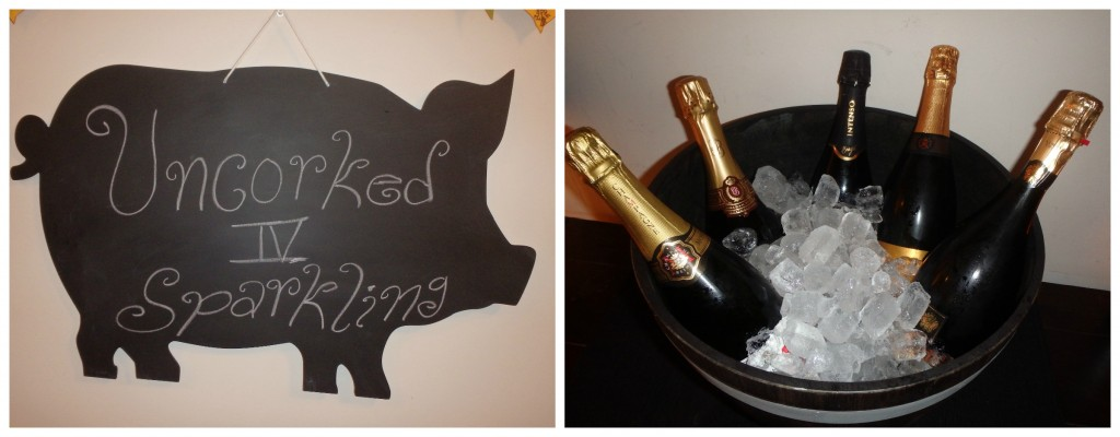 8. Event Sign and Ice Bucket with Wines